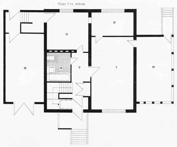 Четырехкомнатный жилой дом